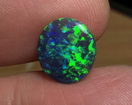 4.20ct Lightning Ridge Gem Black Opal LRS499
