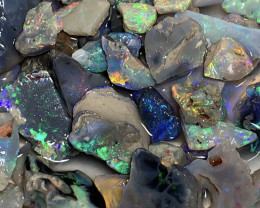 COLOURS TO CUT; 200 CTs of Lightning Ridge Rough Opal #1184