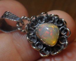15.67ct Solid Silver .925 Pendant Welo  Opal