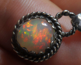 8.47ct Blazing Welo Solid Opal .925 STERLING  PENDANT