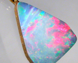 Australian Opal Pendant Solid 14k Gold Natural Jewelry 6.15ct