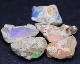 34.4Ct Multi Color Ethiopian Welo Gamble Rough Lot 14P96