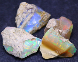 26.95Ct Multi Color Ethiopian Welo Gamble Rough Lot 14P108
