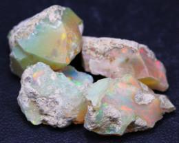 30.25Ct Multi Color Ethiopian Welo Gamble Rough Lot 14P68
