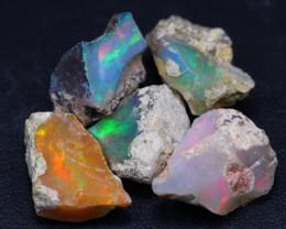 30.35Ct Multi Color Ethiopian Welo Gamble Rough Lot 14P72