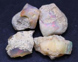 35.55Ct Multi Color Ethiopian Welo Gamble Rough Lot 21P112