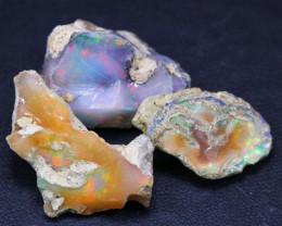 39.75Ct Multi Color Ethiopian Welo Gamble Rough Lot 14P120