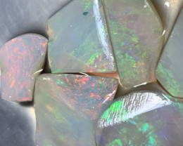 OPAL RUBS; 38.3 4.4 CTs of Lightning Ridge Opal Rubs #1225