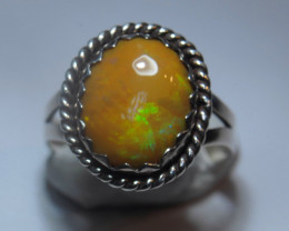 6.7sz. Sterling Silver  Welo Solid Opal Ring