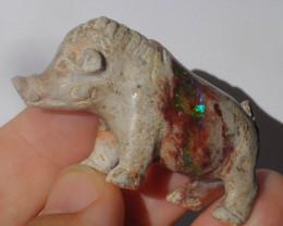 Wild Boar Mexican Cantera Multicoloured Opal