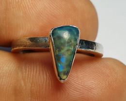 7 sz Ethiopian Welo Opal & .925 Handmade Sterling Ring