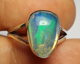 6.20 sz Ethiopian Welo Opal & .925 Handmade Sterling Ring