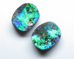 4.30ct Queensland Boulder Opal Stone Pair