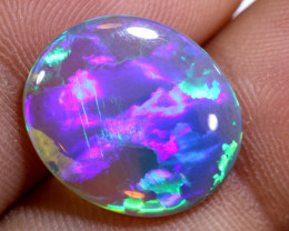 3.75 cts BLACK CRYSTAL Lightning Ridge Opal Cut Stone C-407