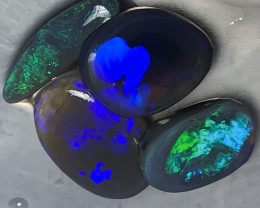 HIGH GRADE BLACK OPAL RUBS; 18.6 CTs Lightning Ridge Opal Rubs,# 1223