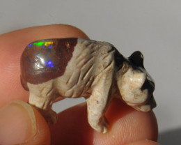 38.53ct Mexican Cantera Multicoloured Opal