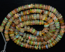 64.15 Ct Natural Ethiopian Welo Opal Beads Play Of Color