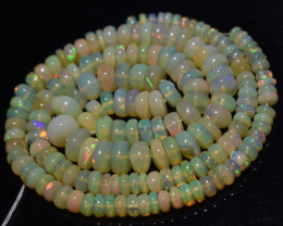 83.55 Ct Natural Ethiopian Welo Opal Beads Play Of Color