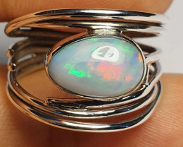 8.5sz Ethiopian Welo Opal & .925 Handmade Sterling Ring
