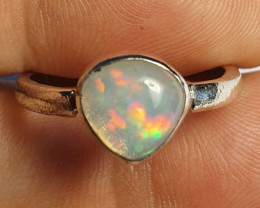 6.75sz Ethiopian Welo Opal & .925 Handmade Sterling Ring