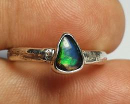 6.40sz Ethiopian Welo Opal & .925 Handmade Sterling Ring