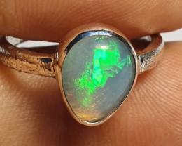 6.5sz Ethiopian Welo Opal & .925 Handmade Sterling Ring