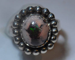 6.2sz Mexican Solid Opal Ring .925 Silver
