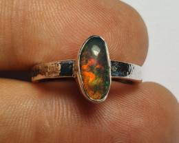 6.30sz Ethiopian Welo Opal & .925 Handmade Sterling Ring