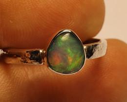 7.5sz Ethiopian Welo Opal & .925 Handmade Sterling Ring