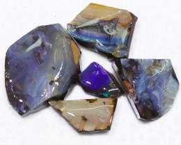 254.30CTS  Boulder Opal Rough/Rub Pre-Shaped PARCEL --  S1195