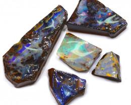 264.65CTS  Boulder Opal Rough/Rub Pre-Shaped PARCEL --  S1198