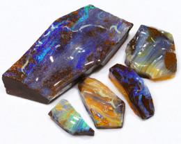 418.10CTS  Boulder Opal Rough/Rub Pre-Shaped PARCEL --  S1200