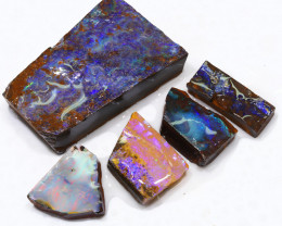 490.65CTS  Boulder Opal Rough/Rub Pre-Shaped PARCEL --  S1201
