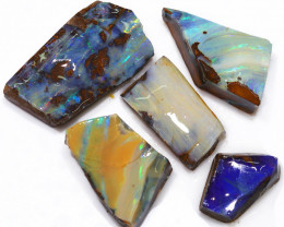 209.50CTS  Boulder Opal Rough/Rub Pre-Shaped PARCEL --  S1203
