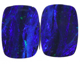 33CTS  OPAL DOUBLET PAIR , GREAT COLOUR PLAY --S1205