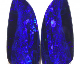 24.21CTS  OPAL DOUBLET PAIR , GREAT COLOUR PLAY --S1206