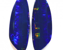 17.47CTS  OPAL DOUBLET PAIR , GREAT COLOUR PLAY --S1208