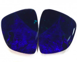 39.79CTS  OPAL DOUBLET PAIR , GREAT COLOUR PLAY --S1210