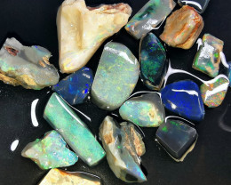 Rough Opal Lot 64.60 cts Black Opals Parcel Lightning Ridge BORA150919