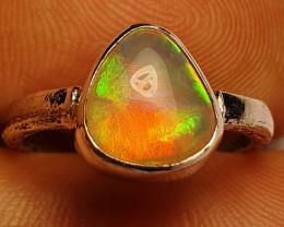 5sz Blazing Welo Solid Opal Ring