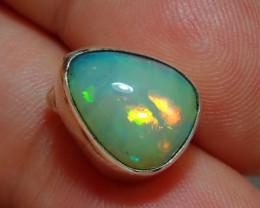 .925 Sterling Silver Welo Solid Opal Pendant