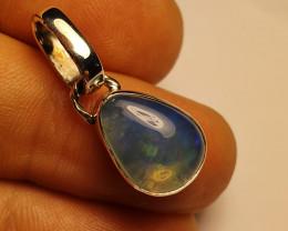 .925 Sterling Silver & Ethiopian  Opal Specimen Pendant