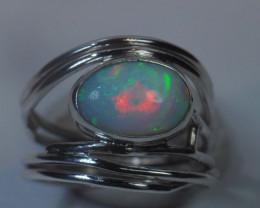 7sz Sterling Silver Blazing Welo Solid Opal