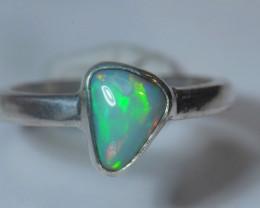 5.5sz  Sterling Silver Blazing Welo Solid Opal Ring