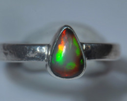 6.25sz Sterling .925 Silver Blazing Welo Solid Opal Ring