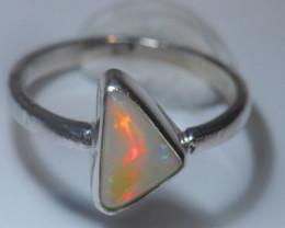 7.5sz Sterling .925 Silver Blazing Welo Solid Opal Ring