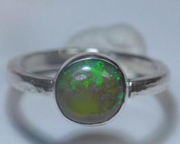 6.5sz Sterling .925 Silver Blazing Welo Solid Opal Ring