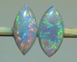 0.80 ct Beautiful Raibow Coober Pedy Opal Pair