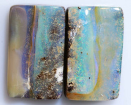 36.65 -CTS  BOULDER OPAL POLISHED  PAIR  NC-6442-NICEOPALSS