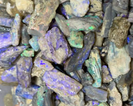 ROUGH FOSSILS; 600 CTs of Lightning Ridge Rough Opals#1255